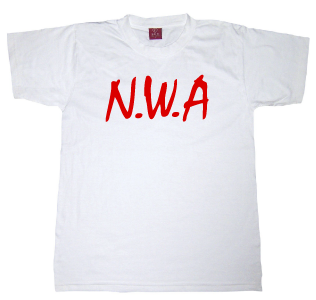 N.W.A Tshirt:White With Red Print - TshirtNow.net
