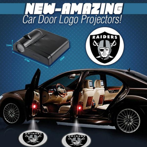 2 NFL OAKLAND RAIDERS WIRELESS LED CAR DOOR PROJECTORS