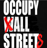 Occupy All Streets Tshirt: Black With White and Red Print - TshirtNow.net - 2