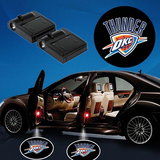 2 NBA OKLAHOMA CITY THUNDER WIRELESS LED CAR DOOR PROJECTORS