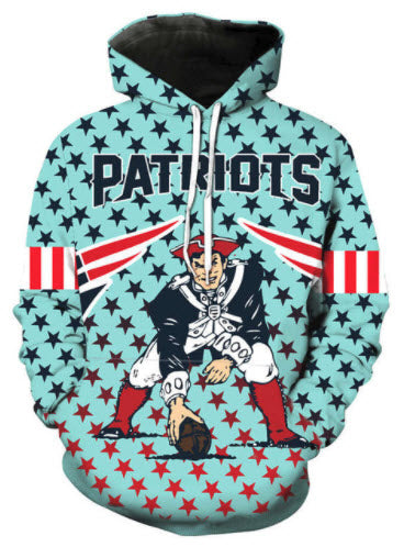 New England Patriots Allover 3D Print Hoodie