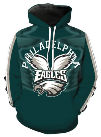 Philadelphia Eagles Allover 3D Print Hoodie