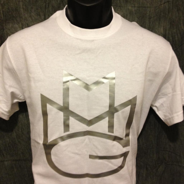 Maybach Music Group Tshirt: White Tshirt with Silver Print - TshirtNow.net - 1