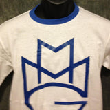 Maybach Music Group MMG Tshirt: Blue Print on Blue Ringer TShirt - TshirtNow.net - 2