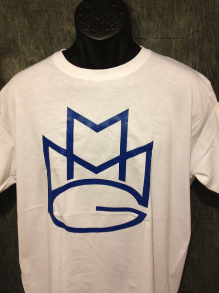 Maybach Music Group Tshirt: White with Blue Print - TshirtNow.net - 1