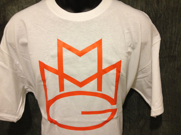 Maybach Music Group Tshirt: White with Orange Print - TshirtNow.net - 1