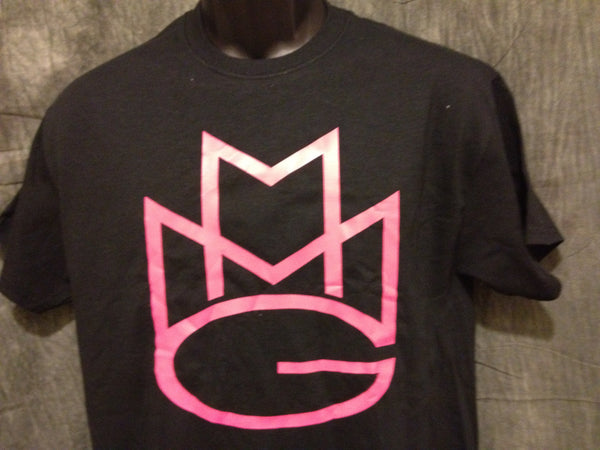 Maybach Music Group Tshirt: Black With Pink Print - TshirtNow.net - 1