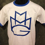 Maybach Music Group MMG Tshirt: Blue Print on Blue Ringer TShirt - TshirtNow.net - 1