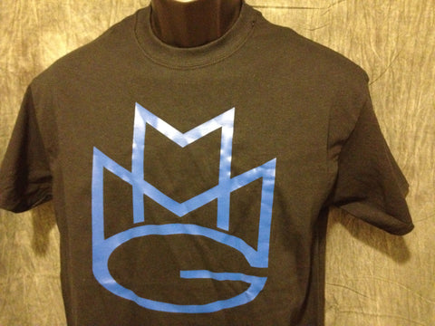Maybach Music Group Tshirt: Black with Blue Print