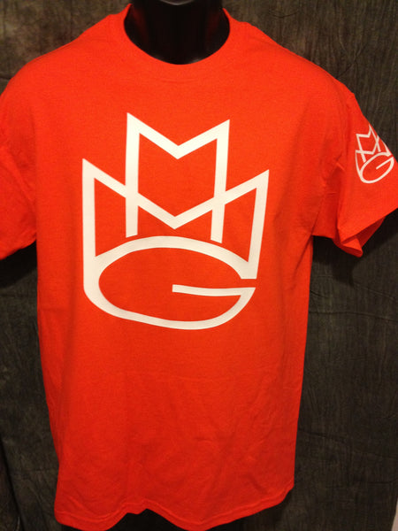 Maybach Music Group Limited Edition Tshirt: Orange with White and Black Print - TshirtNow.net - 1