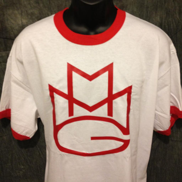 Maybach Music Group MMG Tshirt: Red Print on Red Ringer TShirt - TshirtNow.net - 1
