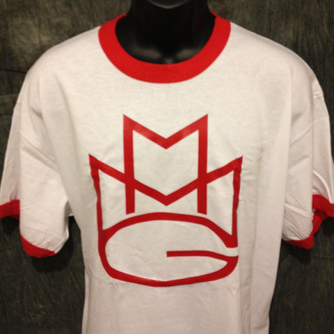 Maybach Music Group MMG Tshirt: Red Print on Red Ringer TShirt