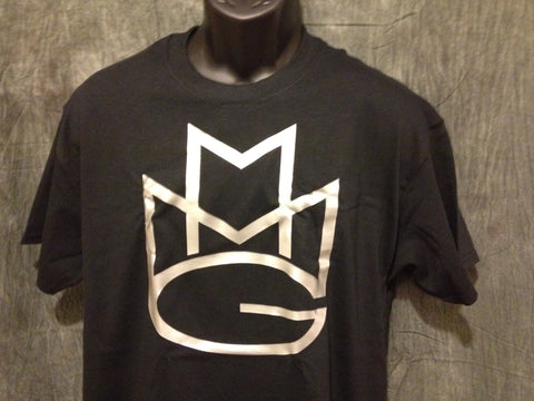Maybach Music Group Tshirt: Black with Silver Print