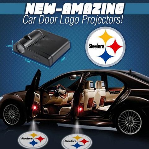 2 NFL PITTSBURGH STEELERS WIRELESS LED CAR DOOR PROJECTORS