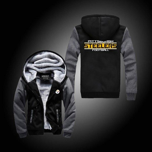 competitive price bd8e5 1ea8a NFL PITTSBURGH STEELERS THICK FLEECE JACKET