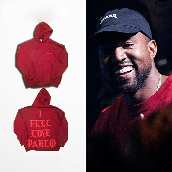 Red YEEZY I Feel Like Pablo Hoodie Kanye West Hooded Sweatshirt - TshirtNow.net - 1