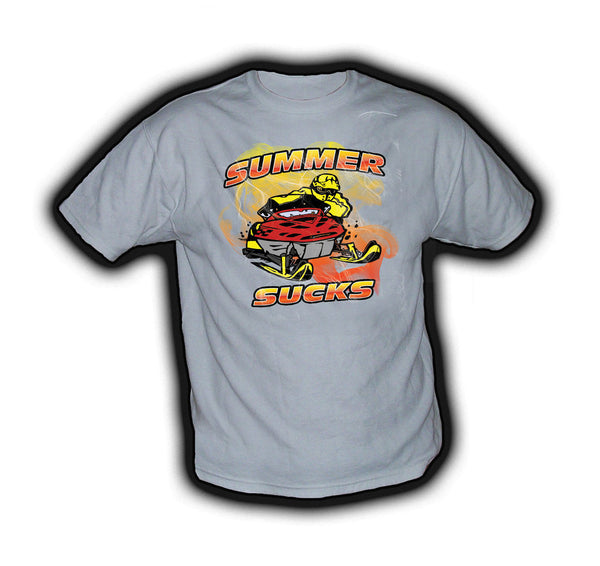 Summer Sucks Yellow/Red - TshirtNow.net