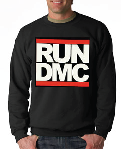 Run Dmc Logo Black Crewneck Sweatshirt - TshirtNow.net