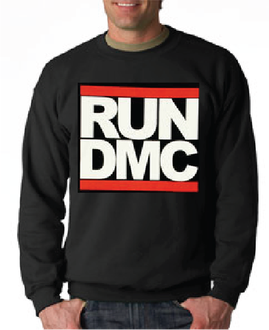 Run Dmc Logo Black Crewneck Sweatshirt