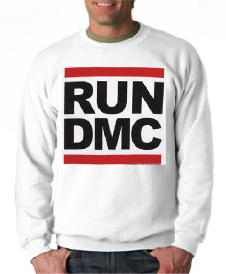 Run Dmc Logo White Crewneck Sweatshirt - TshirtNow.net