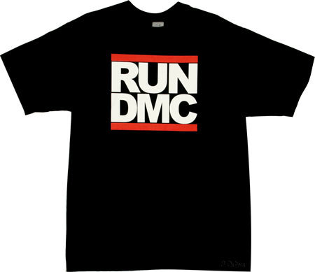 Run Dmc Logo Black Tshirt
