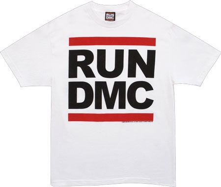 Run Dmc Logo White Tshirt