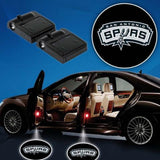 2 NBA SAN ANTONIO SPURS WIRELESS LED CAR DOOR PROJECTORS