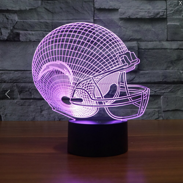 NFL SAN DIEGO CHARGERS 3D LED LIGHT LAMP