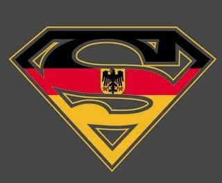 Superman German Flag Logo Black Tshirt - TshirtNow.net
