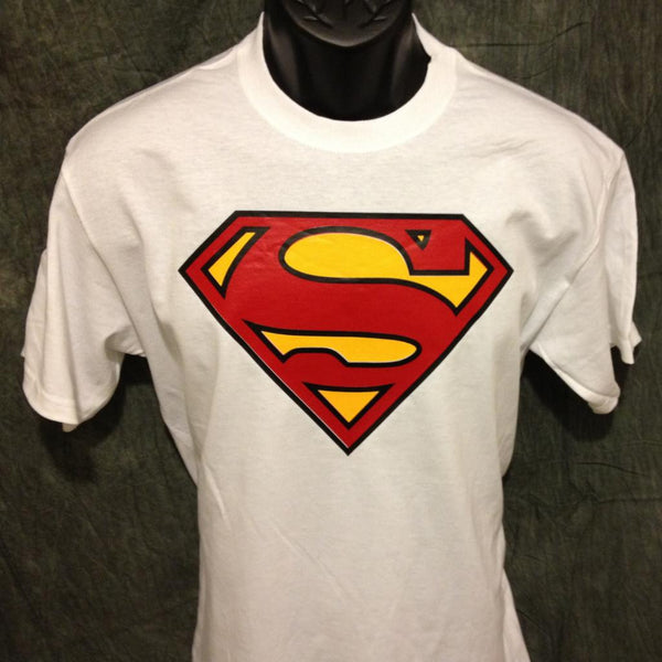 Superman Classic Logo on White Tshirt - TshirtNow.net - 1