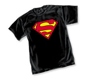 Superman Logo Black Tshirt