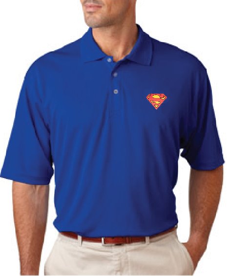 Superman Classic Logo Knit Polo - TshirtNow.net