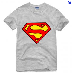 Superman Classic Logo on Ash Grey Tshirt - TshirtNow.net
