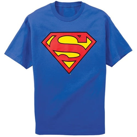 Superman Logo Youth Royal Blue Tshirt