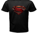 "Superman ""Man Of Steel"" Steel logo on Black tshirt - TshirtNow.net - 2"