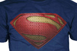 "Superman ""Man Of Steel"" Uniform Logo Variant on Navy Tshirt - TshirtNow.net - 2"