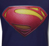 "Superman ""Man Of Steel"" Uniform Logo Variant on Navy Tshirt - TshirtNow.net - 3"
