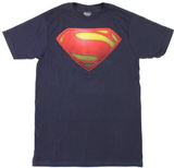 "Superman ""Man Of Steel"" Uniform Logo Variant on Navy Tshirt - TshirtNow.net - 1"