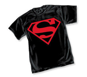 Superman Superboy Logo Black Tshirt
