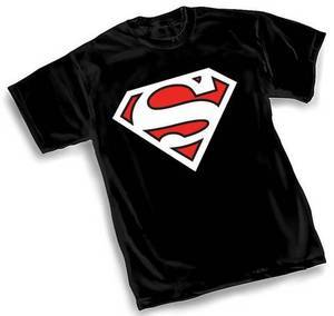 Superman White Logo Black Tshirt