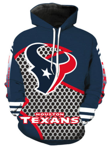 Houston Texans Allover 3D Print Hoodie