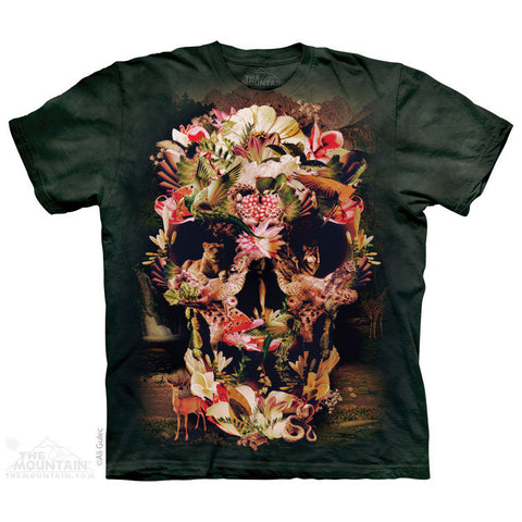 3D Allover Oversize Print Jungle Skull Tshirt