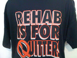 Rehab is For Quitters Tshirt: Black Colored Tshirt - TshirtNow.net - 2