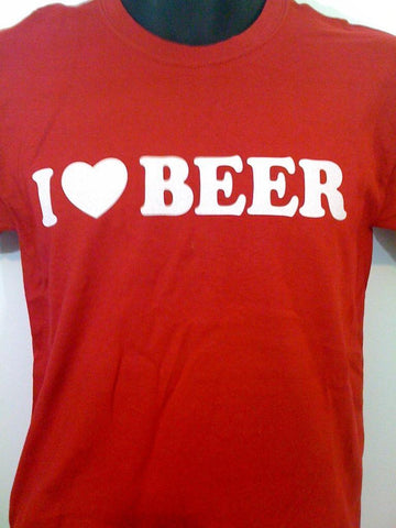 I [Heart] Beer Tshirt: Red Colored Tshirt