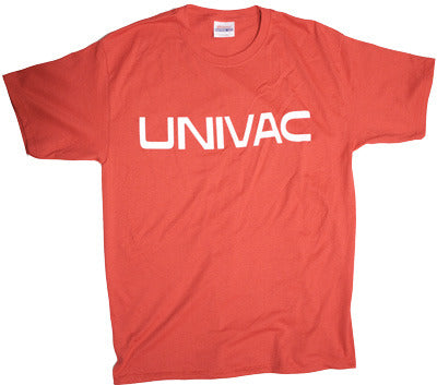 Univac Logo Tshirt: Red With White Print - TshirtNow.net - 1
