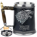 Antique Game of Thrones, Might and Magic Goblet Stainless Steel Resin Mugs