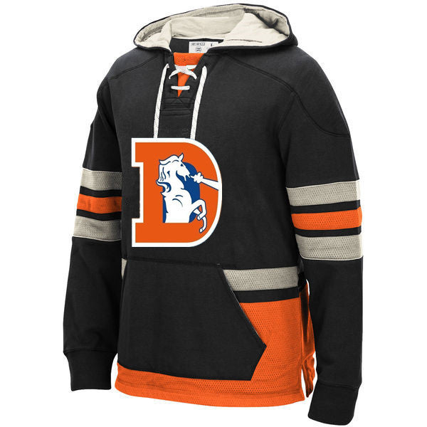 Denver Broncos Laced Hockey style Hoodie Sweatshirt