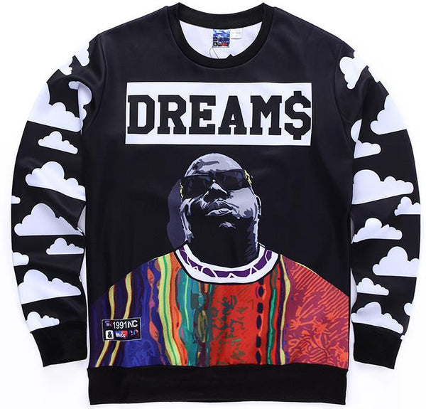 Biggie Smalls Dream$ Allover Print Crewneck Sweatshirt - TshirtNow.net - 4