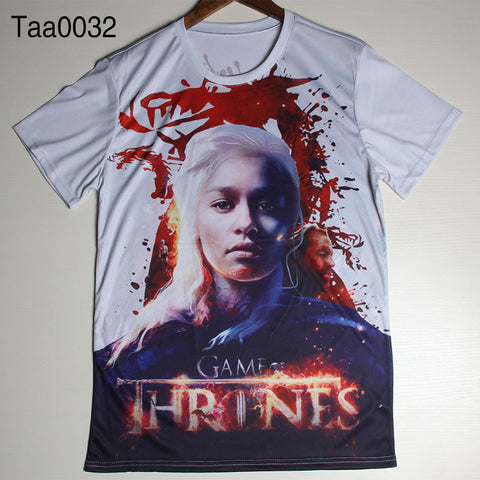 Game Of Thrones Danys Targaryen GOT Logo Allover Print Tshirt
