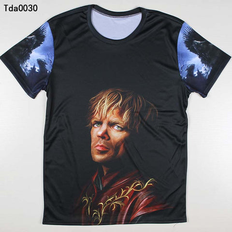 Game Of Thrones Tyrion Lannister Face 3D Print Tshirt